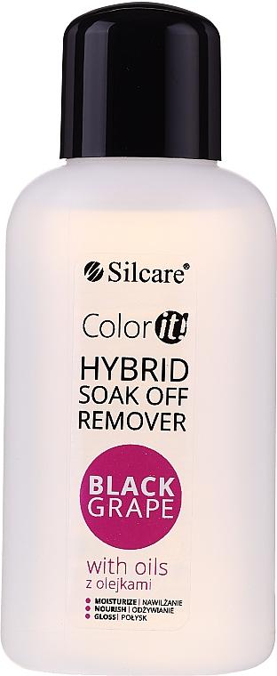 Gel Polish Remover - Silcare Soak Off Remover Black Grape