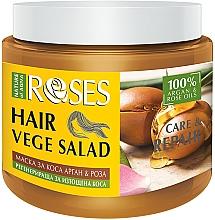 Fragrances, Perfumes, Cosmetics Rose & Argan Mask for Fragile Hair - Nature of Agiva Roses Care & Repair Hair Mask