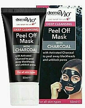Fragrances, Perfumes, Cosmetics Cleansing Peel-Off Charcoal Mask - Derma V10 Deep Cleansing Peel Off Charcoal Mask