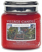 """Fragrances, Perfumes, Cosmetics Scented Candle in Jar """"Apple Wood"""" - Village Candle Apple Wood"""