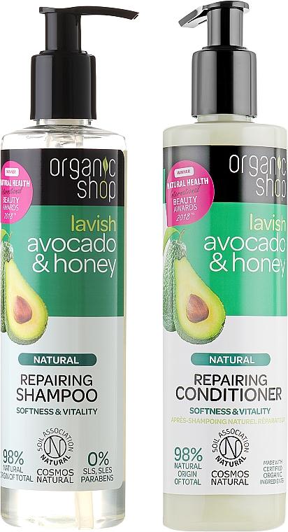 Hair Repair Set - Organic Shop (h/shm/280ml + h/cond/280ml)