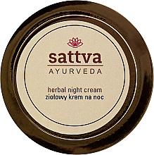Fragrances, Perfumes, Cosmetics Herbal Night Cream - Sattva Ayurveda Herbal Night Cream