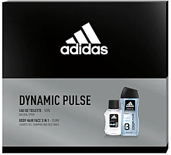 Fragrances, Perfumes, Cosmetics Adidas Dynamic Pulse - Set (edt/50ml + sh/gel/250ml)