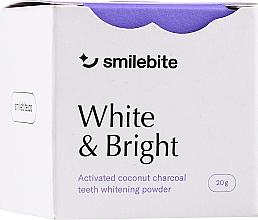 Fragrances, Perfumes, Cosmetics Coconut Charcoal Teeth Whitening Powder - Smilebite White & Brigh Coconut Charcoal Teeth Whitening Powder