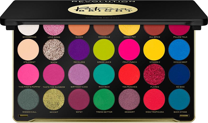 Eyeshadow Palette - Makeup Revolution X Patricia Bright Eyeshadow Palette