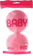 Fragrances, Perfumes, Cosmetics Bath Sponge Set, 2 pcs, pink - Suavipiel Baby Soft Sponge