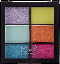 Fragrances, Perfumes, Cosmetics Eyeshadow Palette - MUA Makeup Academy Professional 6 Shade Palette