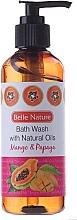 Fragrances, Perfumes, Cosmetics Shower Gel with Mango and Papaya Scent - Belle Nature Bath Wash Mango&Papaya
