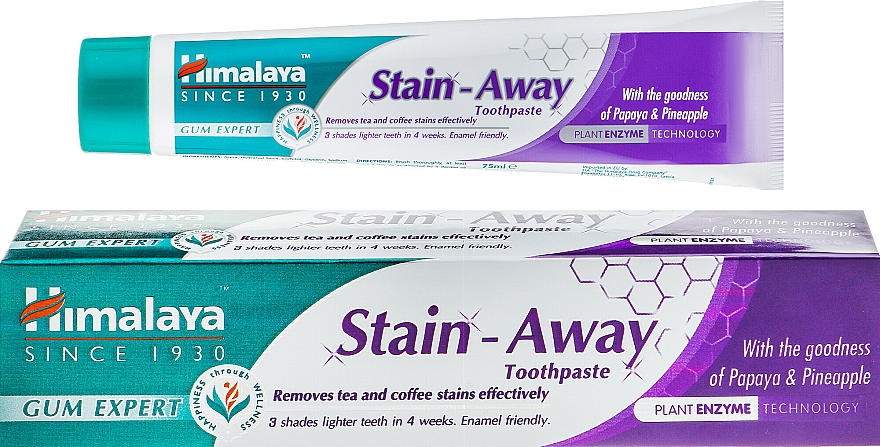 Toothpaste - Himalaya Herbals Stain-Away Toothpaste