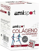 """Fragrances, Perfumes, Cosmetics Dietary Supplement Sticks """"Collagen with Magnesium + Vitamins C"""", with Strawberry Flavor - Ana Maria Lajusticia"""