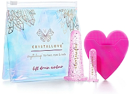 Fragrances, Perfumes, Cosmetics Facial Massage Silicone Suction Cups - Crystallove Crystalcup For Face, Eyes & Neck Rose Set
