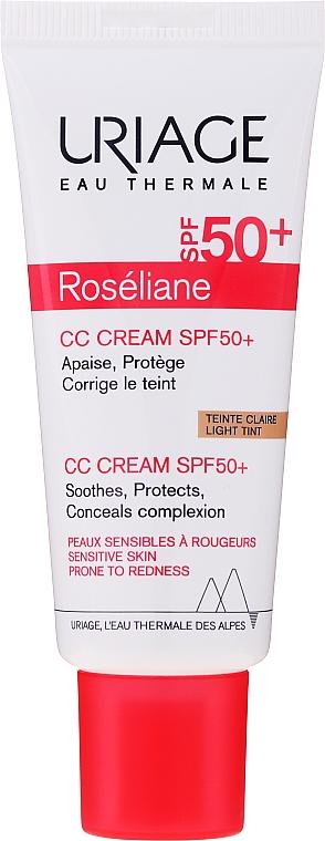 Redness Relieving Moisturizing CC-Cream - Uriage Roseliane CC Cream Moisturizing Cream SPF50+ — photo N2