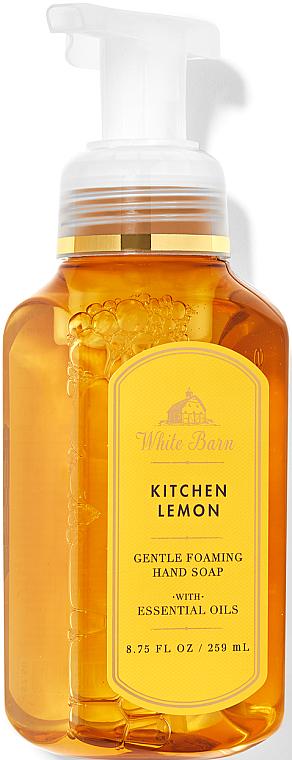 Kitchen Lemon Foaming Hand Soap - Bath and Body Works White Barn Kitchen Lemon Gentle Foaming Hand Soap — photo N1