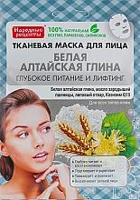 Fragrances, Perfumes, Cosmetics Altai Clay Facial Sheet Mask - Fito Cosmetic Folk Recipes