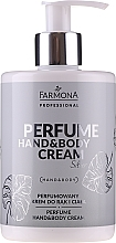 Fragrances, Perfumes, Cosmetics Perfumed Hand & Body Cream - Farmona Professional Perfume Hand&Body Cream Silver