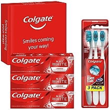 Fragrances, Perfumes, Cosmetics Set - Colgate Box Max White Luminous (toothpaste/3x75ml + toothbrush/3pc)
