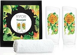 Fragrances, Perfumes, Cosmetics Set - Ryor Hair Care Set (shm/200ml+cond/200ml+towel)