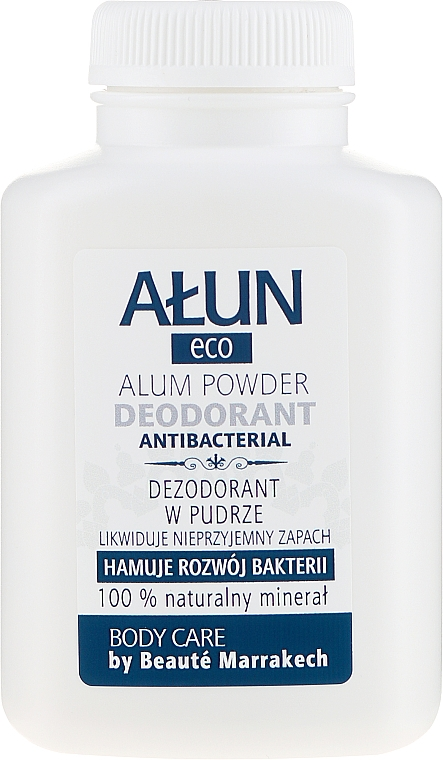 Natural Powder Antiperspirant Alum 100% - Beaute Marrakech Argan Black Liquid Soap