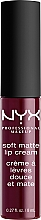 Fragrances, Perfumes, Cosmetics Liquid Lipstick - NYX Professional Makeup Soft Matte Lip Cream