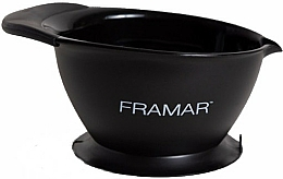 Fragrances, Perfumes, Cosmetics Coloring Bowl with Suction Base, black - Framar SureGrip Suction Bowl Black