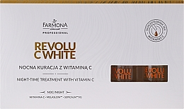 Fragrances, Perfumes, Cosmetics Vitamin C Night Concentrate - Farmona Revolu C White
