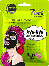 Fragrances, Perfumes, Cosmetics Face Mask - 7 Days Total Black Bye bye All Problems Detox Face Mask