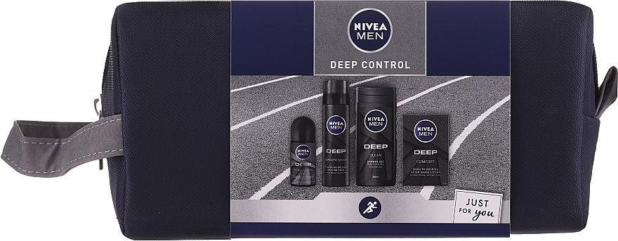 Set - Nivea Men Deep Control 2020 (sh/gel/250ml + ash/lot/100ml + foam/200ml + deo/50ml + bag)