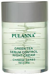 Green Tea Night Face Cream - Pulanna Green Tea Sebum Control Night Cream — photo N1