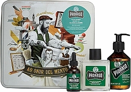 Fragrances, Perfumes, Cosmetics Beard Set - Proraso Refreshing Gift Set (beard wash/200ml + beard balm/100ml + beard oil/30ml)