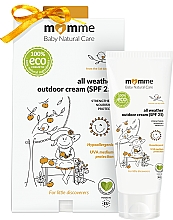 Fragrances, Perfumes, Cosmetics Hypoallergenic Protective Cream - Momme Baby Natural Care All Weather Outdoor Cream SPF25