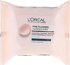 Fragrances, Perfumes, Cosmetics Makeup Remover Wipes - L'Oreal Paris Skin Expert Fine Flowers Normal Combination Cleansing Wipes