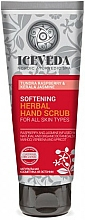 Fragrances, Perfumes, Cosmetics Hand Scrub - Natura Siberica Iceveda Tundra Raspberry&Kerala Jasmine Softening Herbal Hand Scrub