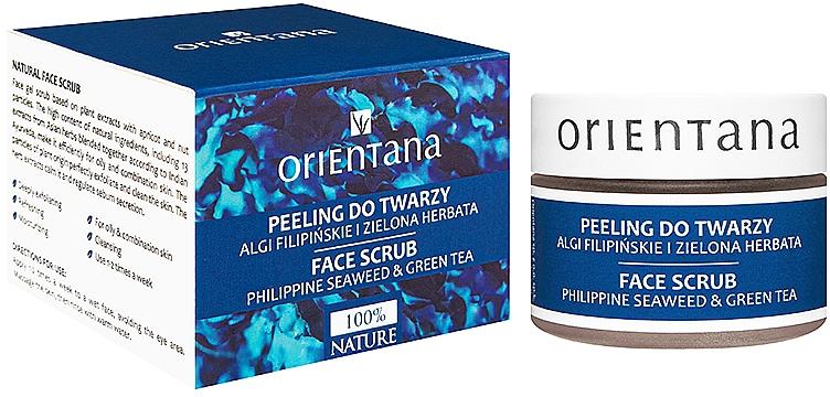 "Gel Face Scrub ""Philippine Seaweed & Green Tea"" - Orientana Natural Gel Face Scrub Philippine Seaweed & Green Tea"