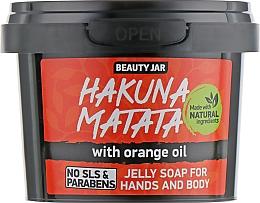 """Fragrances, Perfumes, Cosmetics Soap """"Hakuna Matata"""" - Beauty Jar Jelly Soap For Hands And Body"""