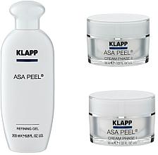 Fragrances, Perfumes, Cosmetics Set - Klapp ASA Peel Home Cure Pack (gel/200ml + f/cr/30ml + f/cr/30ml)