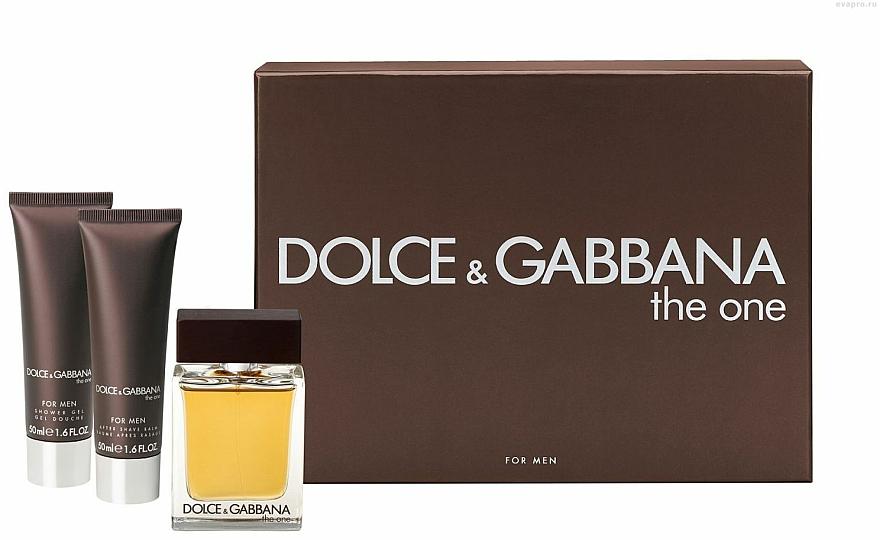 Dolce & Gabbana The One for Men - Set (edt 100ml + a/sh balm 50ml + sh/gel 50ml) — photo N1