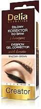 Fragrances, Perfumes, Cosmetics Gel Brow Corrector 4 in 1 - Delia Cosmetics Eyebrow Gel