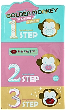 Fragrances, Perfumes, Cosmetics Lip Care Set - Holika Holika Golden Monkey Glamour Lip 3-Step Kit