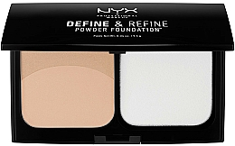 Fragrances, Perfumes, Cosmetics Compact Dual Powder - NYX Professional Makeup Define Refine Powder Foundation