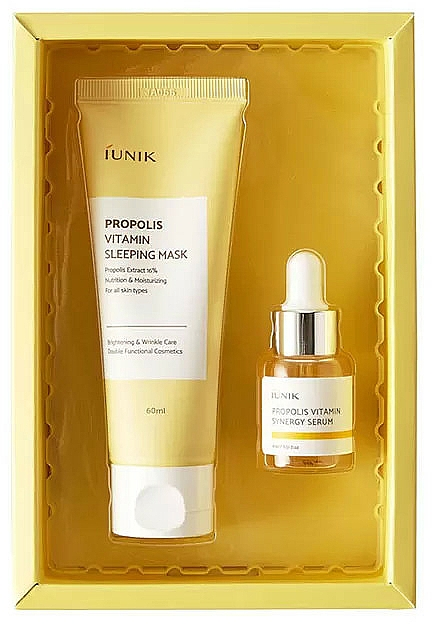 Set - iUNIK Propolis Edition Skin Care Set (mask/60ml + ser/15ml)