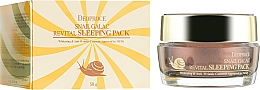 Fragrances, Perfumes, Cosmetics Snail Night Mask - Deoproce Snail Galac-Tox Revital Sleeping Pack