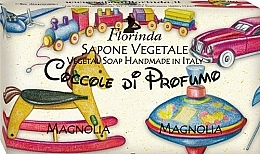 "Fragrances, Perfumes, Cosmetics Kids Natural Soap ""Mangolia"" - Florinda Sapone Vegetale Magnolia Vegetal Soap Handmade"