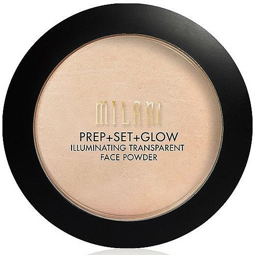 32-in-1 Facial Powder+Primer+Glow - Milani Prep + Set + Glow Illuminating Transparent Powder