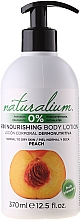 "Fragrances, Perfumes, Cosmetics Nourishing Body Lotion ""Peach"" - Naturalium Body Lotion Peach"
