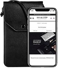 "Fragrances, Perfumes, Cosmetics Crossbody Phone Case ""Cross"", black - Makeup Phone Case Crossbody Black"