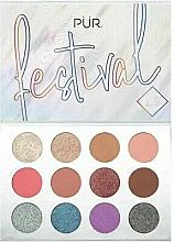 Fragrances, Perfumes, Cosmetics Eye Pigment Palette - Pur Festival 2.0 12-Piece Pressed Pigments Palette