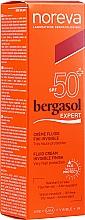 Fragrances, Perfumes, Cosmetics Sun Fluid - Noreva Laboratoires Bergasol Expert IFluid Cream Invisible Finish SPF50+