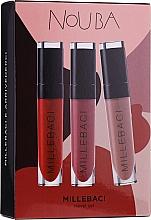 Fragrances, Perfumes, Cosmetics Set - NoUBA Millebaci Travel Set No.3 (lipstick/3x6ml)