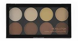 Fragrances, Perfumes, Cosmetics Blush Palette, 8 shades - Makeup Revolution Iconic Lights & Contour Pro