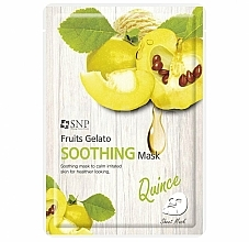 Fragrances, Perfumes, Cosmetics Soothing Quince Face Mask - SNP Fruits Gelato Soothing Mask